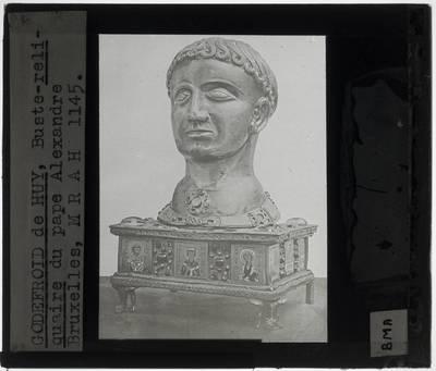 Godefroid de Huy. Reliekschrijn met hoofd van paus Alexander