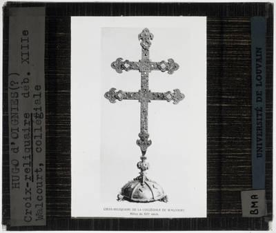 Hugo d'Oignies. Reliekschrijn van het Heilig Kruis in de vorm van een kruis
