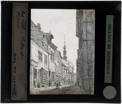 Dinant. Rue petite Tekening van Pattaert