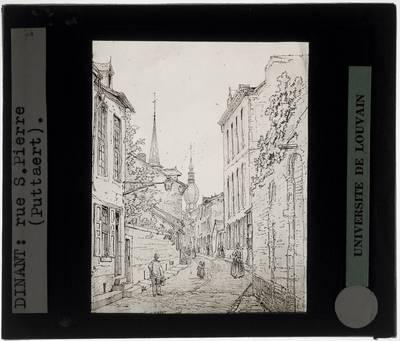 Dinant. Rue Saint-Pierre Tekening van Pattaert