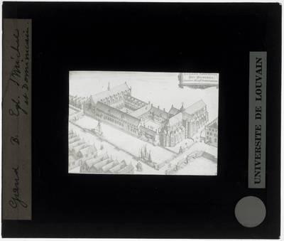 Gent. Kerk Sint-Michiel en Klooster van de Dominicanen 'Het Pand' Illustratie