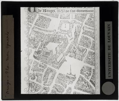 Plattegrond Brugge, naar een ontwerp van Marcus Gerards (1562)