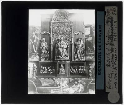 Matthias Grünewald. Nikolaus Hagenauer. Isenheim altaar Eerste zicht, met sculpturen