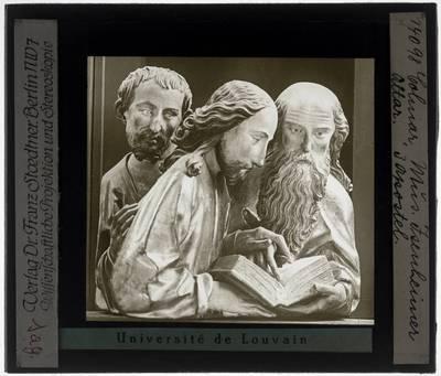 Matthias Grünewald. Nikolaus Hagenauer. Isenheim altaar Eerste zicht. Detail drie apostelen