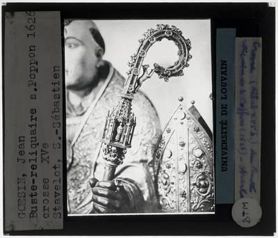 Jean Goesin. Reliekschrijn van Sint-Poppo Detail: Staf van Sint-Poppo