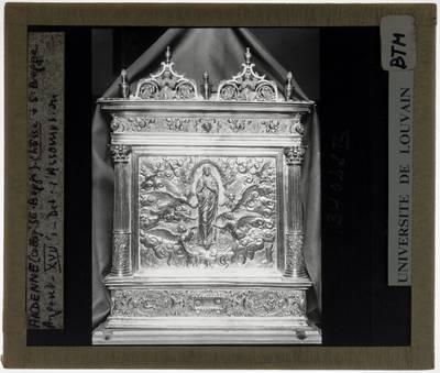 Schrijn van de Heilige Begga Korte zijde: Maria-Tenhemelopneming