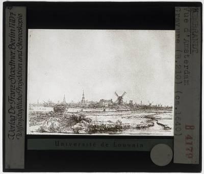 Rembrandt. Gezicht op Amsterdam uit het noordwesten