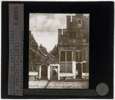 Johannes Vermeer. Gezicht op huizen in Delft