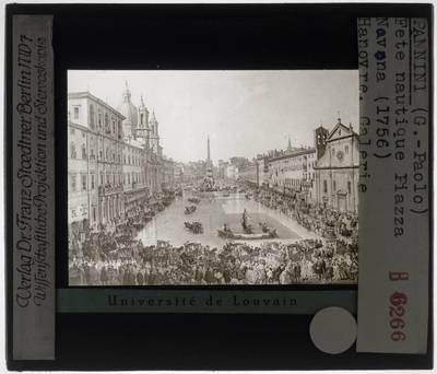 Giovanni Paolo Panini. Piazza Navona in Rome