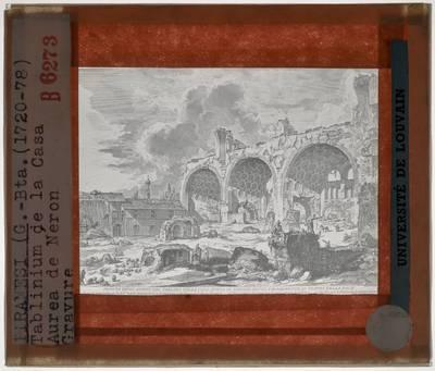 Giovanni Battista Piranesi. Veduta met ruïnes van het tablinum van het Gouden Huis van Nero
