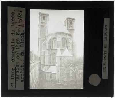 Saint-Omer. Chapelle de l'ancien collège des Jésuites walons Exterieur: Oostelijke gevel