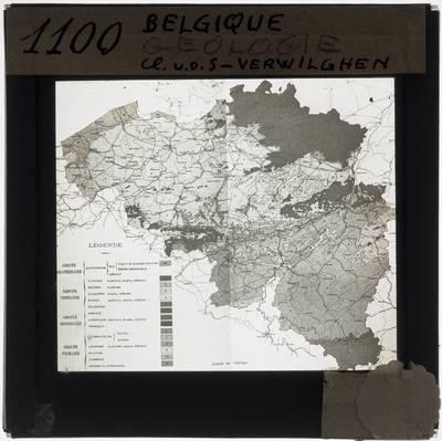 Belgium. Geological map
