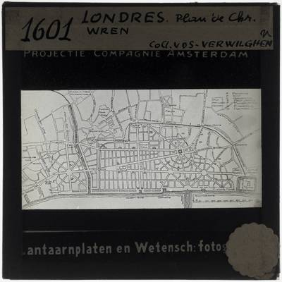 Copy of the map of London by Christopher Wren.