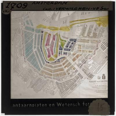 J.H. Schmüll. J.Z. Kannegieter. Map of Amsterdam