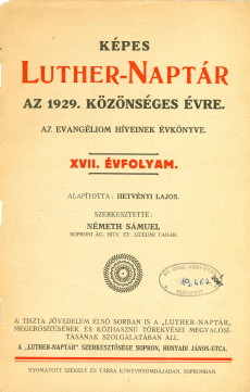 1929. évi Képes Luther-Naptár