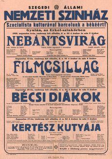 Szegedi Állami Színház programjai 1950. augusztus 6-27-ig