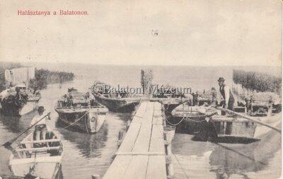 Halásztanya a Balaton.
