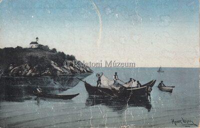 Nincs cím. Halászok a Balatonon