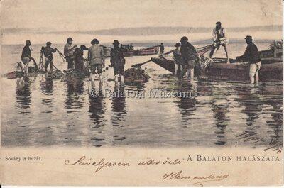 A Balaton halászata. Sovány a húzás.
