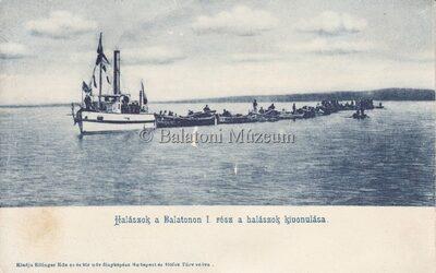 Halászok a Balatonon első rész a  halászok kivonulása.