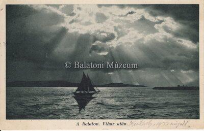 A Balaton. Vihar után.