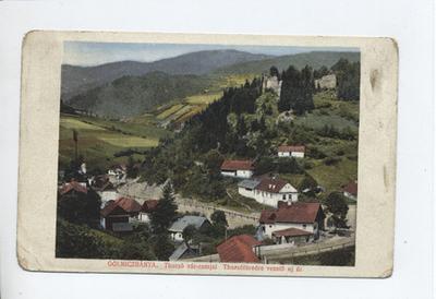 Thurzó vár romjai - Thurzófüredre vezető új út, Gölniczbánya