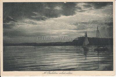 A Balaton vihar után.