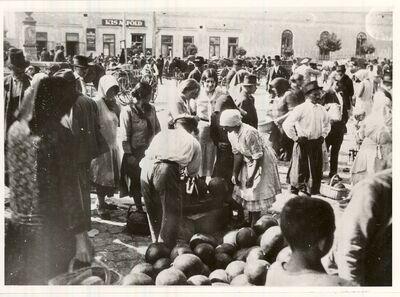 Piac Orosházán 1920-as években