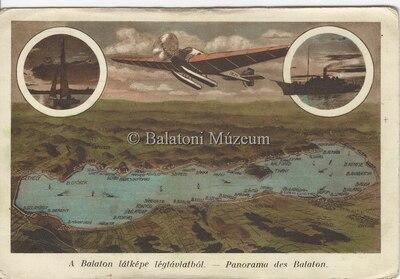 A Balaton látképe légtávlatból