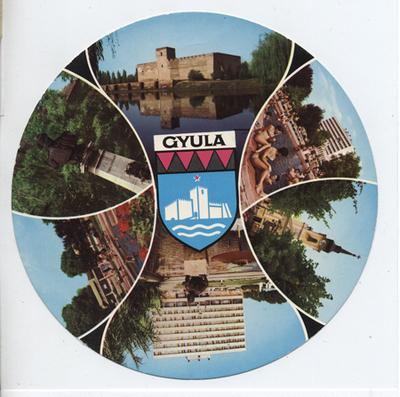 Kör alakú képeslap Gyuláról