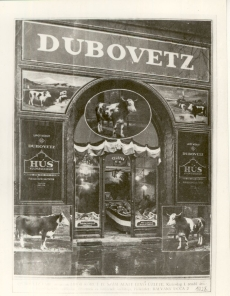 Dubovetz hentesáru bolt Budapest 1928.