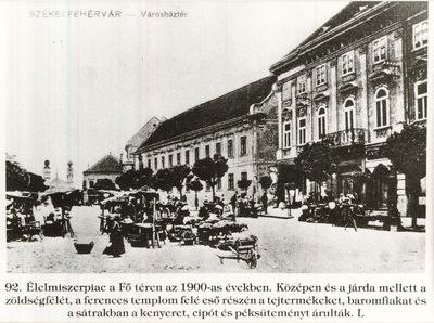Piac Székesfehérvár 1930-as évek