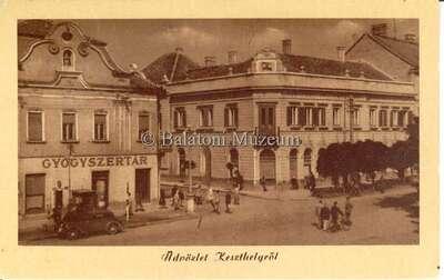 Fő tér, Gyógyszertár, Hungária szálló