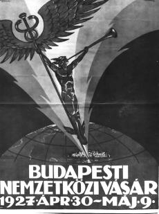 kereskedelmi plakát BNV Budapest 1927.