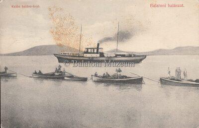 Balatoni halászat. Kelén halász-hajó.