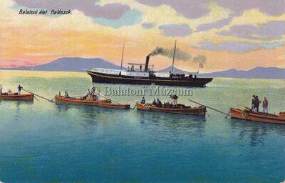 Balaton élet. Halászok.