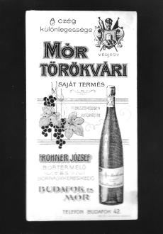 Számolócédula Frohner József Budafok, Mór