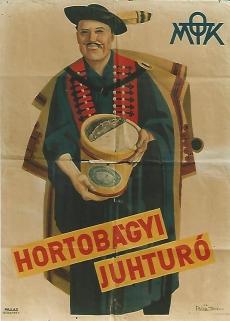Reklámplakát  Országos Magyar Tejszövetkezeti Központ Hortobágyi juhturó Budapest  1939.