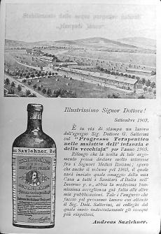 hirdetés Hunyadi Keserűvíz Budapest 1903.