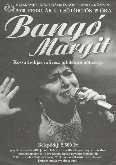 Bangó Margit jubileumi nótaestje, Osztrigás Mici komédia és Cserháti Zsuzsa emlékkoncert