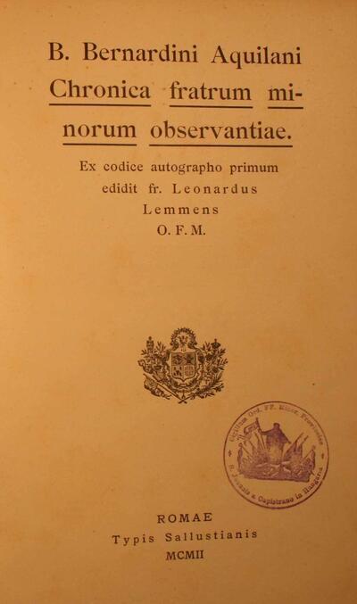 Chronica Fratrum Minorum Observantiae