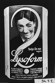 Lysoform reklám porcelán fali piperetartó Budapest