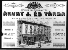 Árvay J. és Társa divatáru Budapest