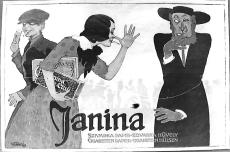 Reklámplakát, Janina Cigarettapapír Rt., Budapest