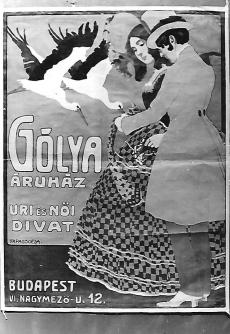 Reklámplakát Gólya áruház Budapest