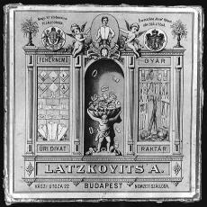 szórólap Latzkovits A. divatáru Budapest
