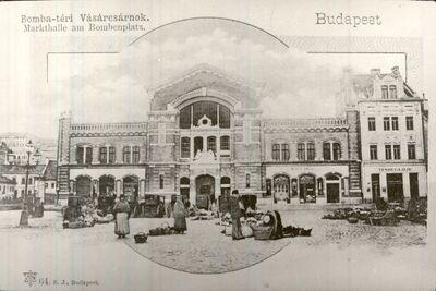 Vásárcsarnok a Batthyány téren Budapest 1900