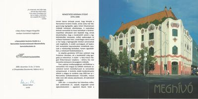 Meghívó a Nemzetközi Kerámia Stúdió és a Nemzetközi Zománcművészeti Alkotóműhely bemutatkozására és mecénástalálkozóra