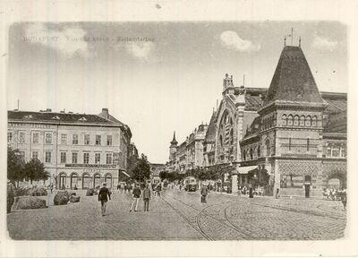 Vásárcsarnok a Vámházkörúton Budapest 1921.