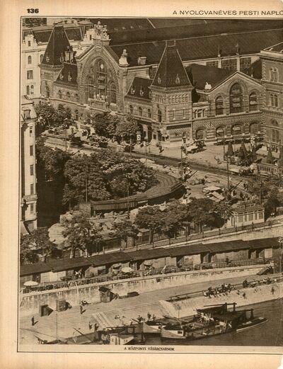 Központi Vásárcsarnok madártávlatból, Budapest 1930.
